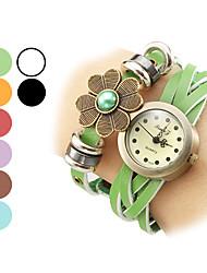 Femme Montre Tendance Quartz Cuir Bande Bracelet Montre / bracelet Noir / Blanc / Bleu / Rouge / Orange / Marron / Vert / Violet