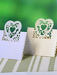 Place Cards and Holders Heart Hollow-out Place Card - Set of 12 (More Colors)