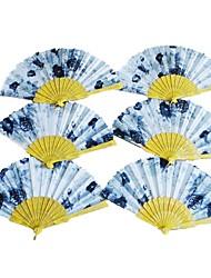 Agradable floral Tema Fan Mano - Juego de 4 (patrones al azar)