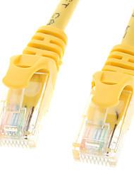 Cat 5e macho a macho Cable de red amarillo (1M)