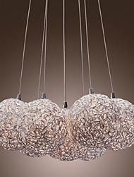 luzes de alumínio comtemporary pendentes, com 7 luzes