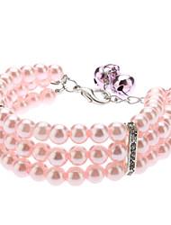 Halsketten für Hunde Rosa Frühling/Herbst S / M / L Plastik