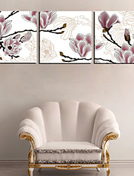 Stretched Canvas Art Floral Dreamy Flower Set of 3