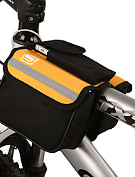 Cycling Bicycle Trame Pannier Front Tube Bag Yellow with Rain Cover