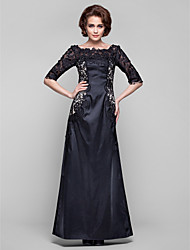 Dress - Plus Size / Petite Sheath/Column Bateau Floor-length Lace / Stretch Satin