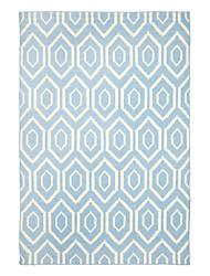 Wolle Reiherente Teppich mit regelmäßigen Sechsecken Pattern 5 '* 8'