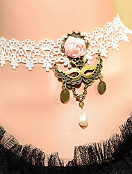 Gorgeous Lace With Pearl Flower Women's Necklace