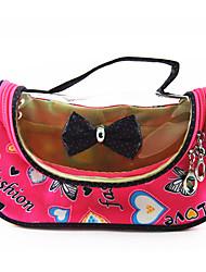 Portable PU Make up/Cosmetics Bag with Mirror Rose Transparent Bowknot Spot Cartoon