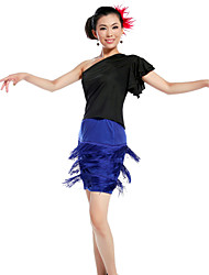 Dancewear Viscose With Tassels Latin Dance Skirt for Ladies(More Colors)