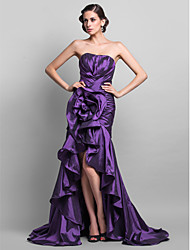 Formal Evening/Prom Dress - Grape Plus Sizes Trumpet/Mermaid Sweetheart Asymmetrical/Sweep/Brush Train Taffeta