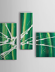 Hand Painted Oil Painting Abstract with Stretched Frame Set of 3 1309C-AB0804