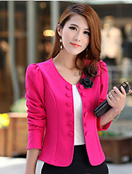 Women's Fashion Double-breasted Large Yard Short Type Coat Suit