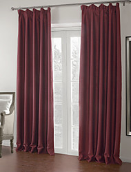 (Two Panels) Solid Mordern Luxury Blackout Curtain