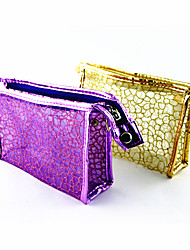 Briefcase Pattern Make up/Cosmetics Bag Transparent Lattice(Assorted Colors)