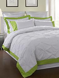 3-teilig 100% Baumwolle weiß Diamant Bettbezug Set
