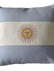 Аргентина флага хлопка декоративную крышку подушки