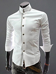 Белый Мода RR ПОКУПАТЬ Человека Англии Стенд воротник футболка с длинным рукавом