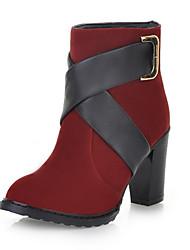 Chic Suede Chunky Heel enkellaarsjes met gesp party / avond schoenen (meer kleuren)