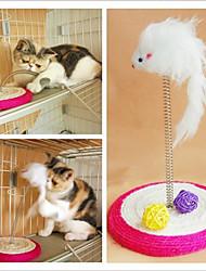 Bobina de sisal do rato da mola estilo raspadinha Brinquedos do gato