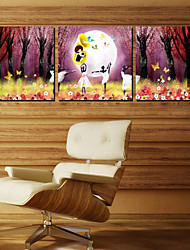 Stretched Canvas Art People Dancing Girls Set of 3
