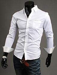 Polka Dot Decorado camisa longa da luva