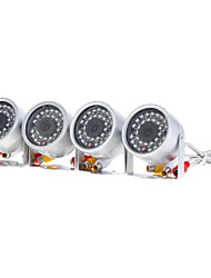 CCTV 4CH USB DVR Kit (4 x IR CCTV security camera)