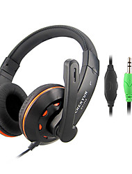 Stereo Hi-Fi 3.5mm On-Ear Headphone with Mic and Remote CY-712 (Black)