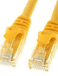 Cat. 6 macho a macho Cable de red amarillo (3M)