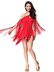 Performance Dancewear Polyester With Tassels Latin Dance Dress for Ladies(More Colors)