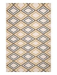 Шерсть хохлатой коврик с шаблоном регулярного Алмазный массива 5 '* 8'