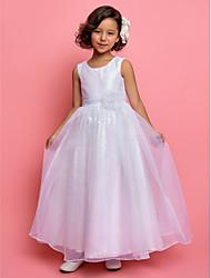 Flower Girl Dress - A-line/Princesse Longueur cheville Sans manches Organza/Pailleté