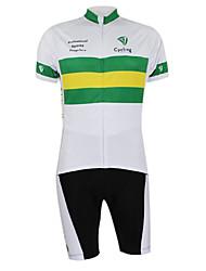 Kooplus2013 Campeonato Jersey Austrália poliéster e Lycra e tecido elástico Ciclismo Suits (t-shirt + Bib-calças)