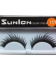 1 Pairs European Black Fiber  False Eyelashes SUL111