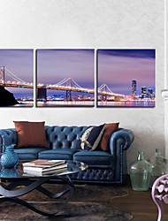 Trasferimenti su tela Art Paesaggio Brooklyn Bridge Set di 3