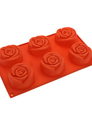 Rose Shaped Silicone Cake Cookie Mould (Random Color)