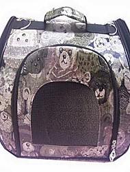 Double-Usage ours mignons Motif Housse de transport avec bretelles pour Animaux Chiens (Assorted Sizes)