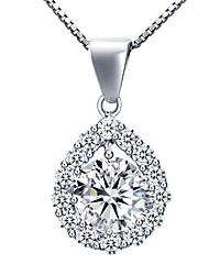 BAFANA Women's Love Teardrop Diamante Pendant Necklace