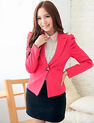 Women's Black/Red/White Blazer , Casual/Work Long Sleeve
