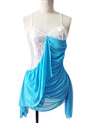 Poliéster Dancewear y lentejuelas vestido de baile latino para las señoras