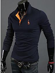 ВМС RR ПОКУПАТЬ человека вскользь голубой олень вышивка футболка с длинным рукавом