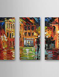 Hand Painted Oil Painting Landscape with Stretched Frame Set of 3 1308-LS0584