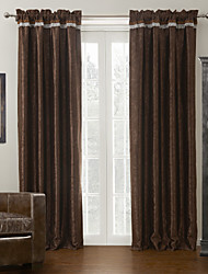 Two Panels Abstract Leaf Neoclassical Blackout Curtain