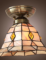 Stylish Retro Ceiling Lamp With Checkered Pattern And Beads