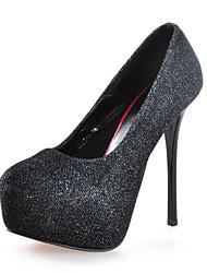 Sexy Glitter PU Woman's Platform High Heels
