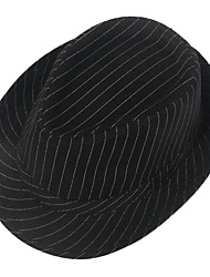 Riscas Preto-Branco Unisex chapéu de feltro de algodão