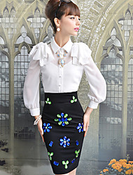 Women's Blouse/Shirt , Casual/Work Long Sleeve