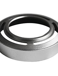 Prata metálica Lente Para Fujifilm X10 LH-JX10 com anel adaptador