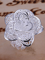 Ring Party Jewelry Alloy / Silver Plated Statement RingsAdjustable Gold