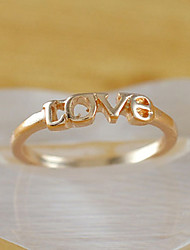 Women's Love Gold Plated Finger Ring