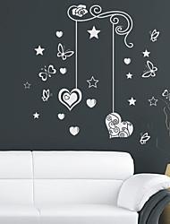 Amour de papillon Floral Stickers muraux